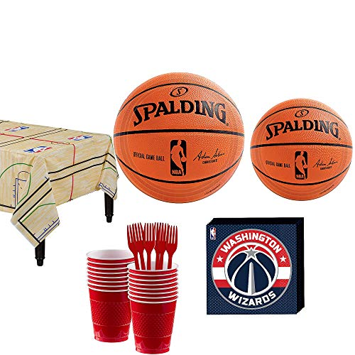 Wizards Game Washington - Party City Washington Wizards Party Kit 16 Guests, Includes Table Cover, Plates, Napkins and More