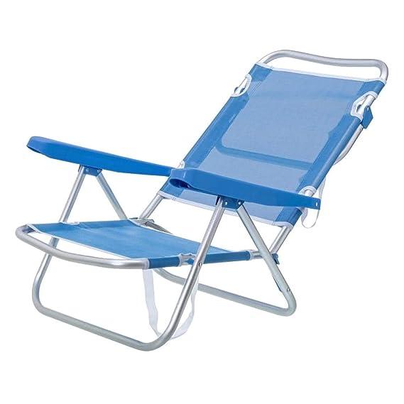 Silla con Brazos para Playa Pop de Aluminio Azul Garden - LOLAhome ...