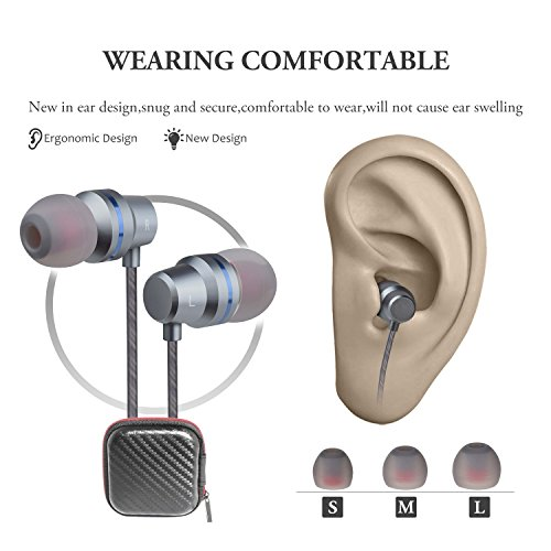 Earbuds Wired Headphones With Microphone In Ear Earphones Ear Buds With Stereo Mic And Volume Control For Android Smart Phones iPhone iPad Samsung Music Noise Cancelling 3.5mm Devices Headphones by Gsebr (Image #5)