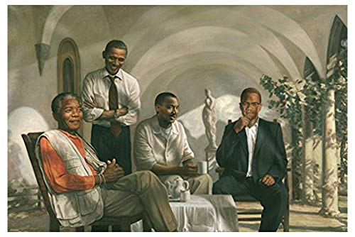 (THE PIONEERS POSTER Mandela - Malcolm X - Obama - Martin Luther King MLK RARE HOT NEW 24x36)