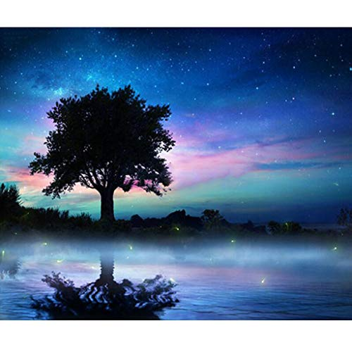 Baulody Full Drilled 5D Tree Diamond Painting Kits for Adults and Kids, DIY Life of Tree 5D Embroidery Paintings Rhinestone Diamond Painting Kits Pasted DIY Diamond Painting Cross ()