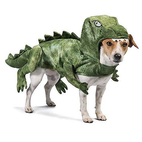 Thrills & Chills Halloween Green Dinosaur Dog Costume~-Small~ -