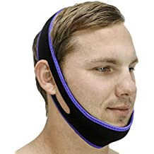 Snoring Solution - SleepEZzzz Snoring Solution - Customizable Anti Snoring Chin Strap - Snoring Aid That Works - Best Solution for Mouth Snorers - Adjustable, Comfortable and Easy to Use