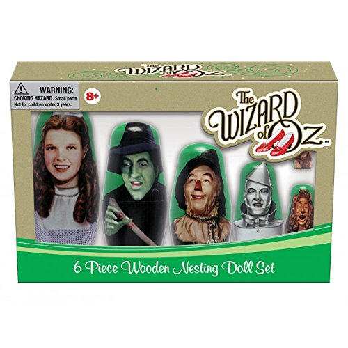 PPWToys Wizard of Oz Wood Nesting Doll Action Figure (6 Piece)