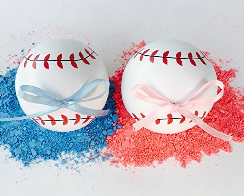 Sport Theme Party Ideas (Kate & Bill Gender Reveal Baseballs -2 Balls Team Boy & Team Girl Sex Reveal Party Ideas, Pink and Blue Exploding Balls,Perfect for Baby Shower Decorations or Unique Games-Environmentally Safe)