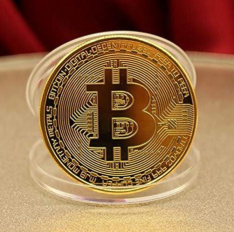 JC Moneda física de Bitcoin revestida en Oro auténtico de 24 Quilates. Una verdadera Pieza de coleccionista, con Estuche Protector. Una adquisición obligada para Todo Amante del Bitcoin
