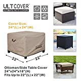 ULTCOVER Waterproof Patio Ottoman Cover Square