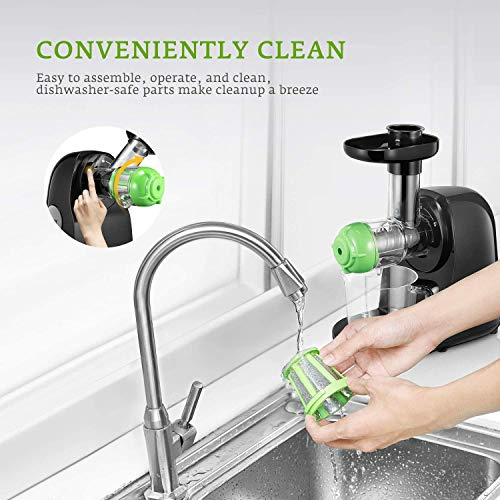 Juicer Machines, Aicok Slow Masticating Juicer Extractor Easy to Clean, Quiet Motor & Reverse Function, BPA-Free, Cold… Salted Salad
