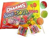 Charms Halloween Sweet 'N Sour Pops Lollipops, 9 oz Bag, Pack of 2