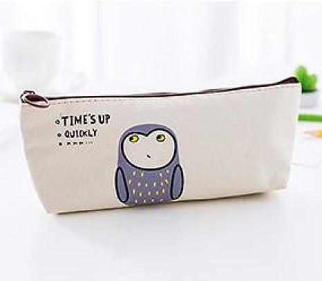Estuche Good Morning Party Zipper Pencil Bag Owl Cat Pen Case Stationery Storage Simple Organizer Box School Office Supply: Amazon.es: Deportes y aire libre