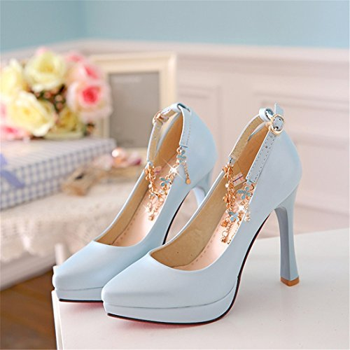 Zapatos Perlas Señoras DEDE Sandalette con Solo Señora Gran blue DEDE Señoras bbd6a6