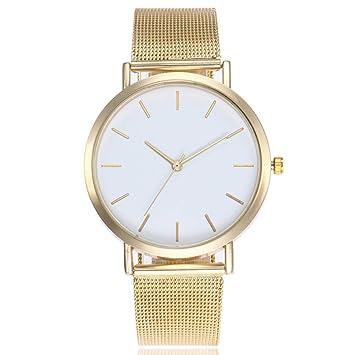 ZAK168 Reloj de Cuarzo para Mujer, Correa de Acero Inoxidable, Malla de Metal analógico