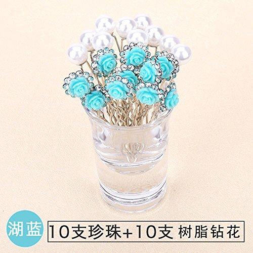 (Korea diamond pearl ball head centipede braid hair pin plate Adults Children U-shaped hairpin hairpin head hair)
