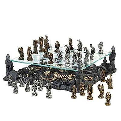 Black Dragon Chess Set Kids Children