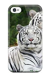 Defender Case For Iphone 4/4s, Tiger Background Pattern