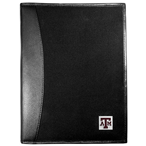 NCAA Texas A&M Aggies Leather & Canvas Padfolio, Black