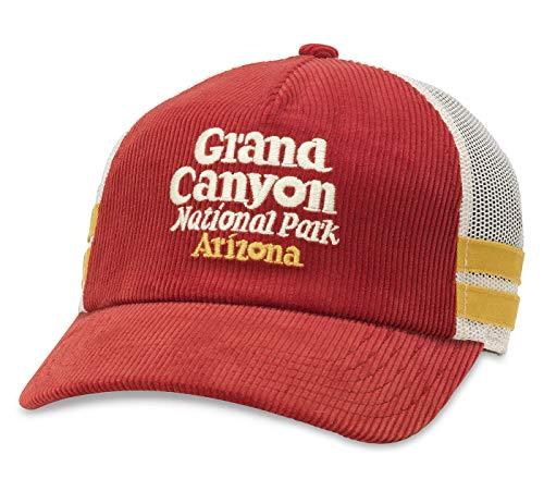 American Needle Grand Canyon National Park Mack Corduroy Trucker Mesh Adjustable Snapback Hat Red
