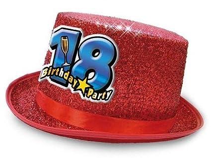 Cappello CILINDRO 18 Anni glitter - Buon Compleanno - colori assortiti -  invio del colore casuale 6df49c3f5219
