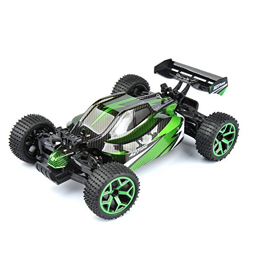 Power Hi Battery Nimh (Gizmovine RC Car Toys, 1/18 Scale Remote Control Electric Racing Sand Buggy 4WD Hi Speed Vehicle for Kids & Adult (Green))