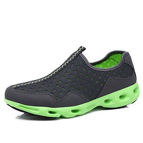 Yuanli Sport Kvinna Ventilerande Mesh Promenadskor, Halka På Sneakers Grå
