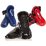whistlekick Karate Sparring Foot Gear Karate Sparring Gear Set (Stealth (Black) Adult Large) - w/ FREE Backpack - Martial Arts Sparring Gear Set / Taekwondo Sparring Gear Set Boots Shoes Kicks