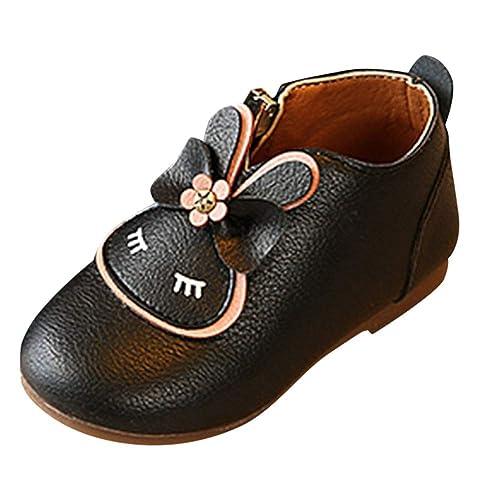 QinMM 1-6 años bebés Conejo Dibujos Animados Bowknot Botas Princesa Zapatos Zapatillas Mocasines Planos: Amazon.es: Zapatos y complementos