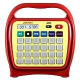 Hamilton Buhl Juke24 Portable Digital Jukebox with CD Player & Karaoke Function Red/Yellow (J22RCS1YR)