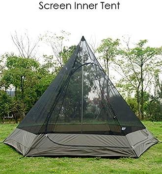 12.5 Pied Double Couches pour Camping en Plein Air Randonn/ée Chasse TentHome Tente Tipi Tente Yourte Familiale Imperm/éable 380CM 4 Personnes