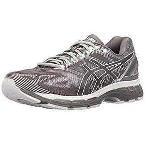 ASICS Men's Gel-Nimbus 19 Running Shoe, Carbon/White/Silver, 10 M US