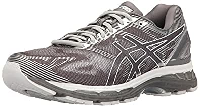 ASICS Men's Gel-Nimbus 19 Running Shoe, Carbon/White/Silver, 6 M US
