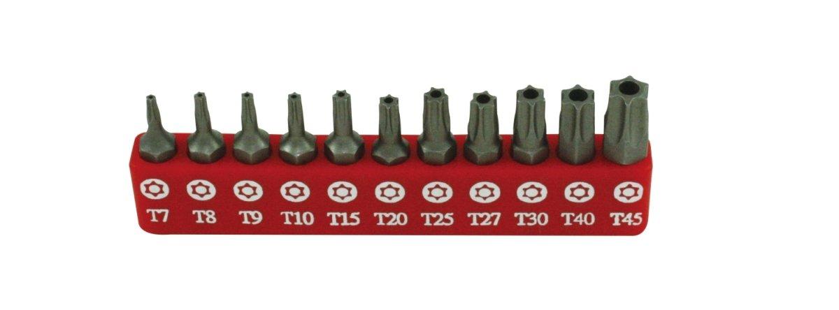 Genius Tools SB-811TP 11 Piece Tamperproof Star Screwdriver Bit Set