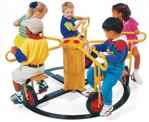 (Wholesale Playgrounds RPE-5021BL Merry Go Circel Cycle 5 Seat -Blue Outdoor Commercial Playground Playset)