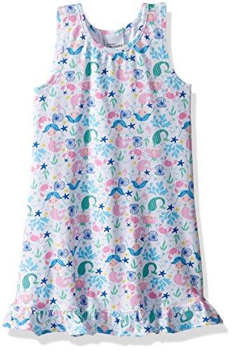 Flap Happy Little Girls' Sophie Swing Dress, Mermaid Dreams, 5 by Flap Happy