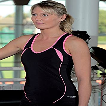 b8d7f5edbe Precision Women s Running Vest with Support Sleeveless Training Tank ...