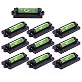 10x Magnetic Bubble Spirit Level - Magnetic Leveling Tool with Screw Hole for TV Mounts