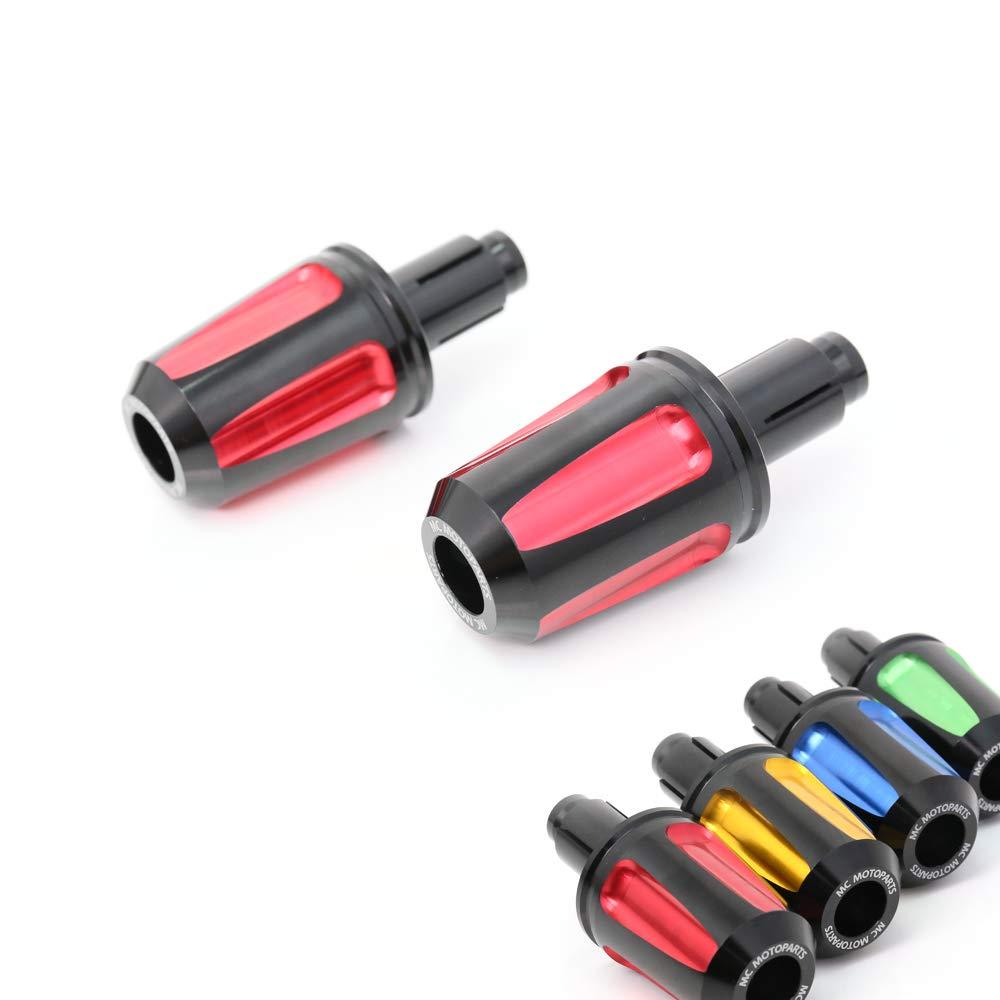 Red FAIZ CNC Bar End Sliders For Honda CBR250R CBR250RR MXS 125 GROM CBR600RR CBR1000RR Fireblade CB1000R CB600F CBF