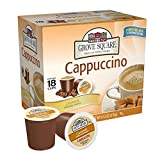 Grove Square Cappuccino Cups, Caramel,Single Serve Cup for Keurig K-Cup Brewers, 18-Count (Pack of 3)