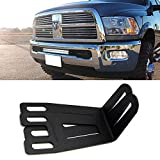 """iJDMTOY For 2009-2016 Dodge RAM 2500 3500 Lower Bumper Grill Mounting Bracket (Compatible with 20-22"""" Straight LED Work Light Bar)"""