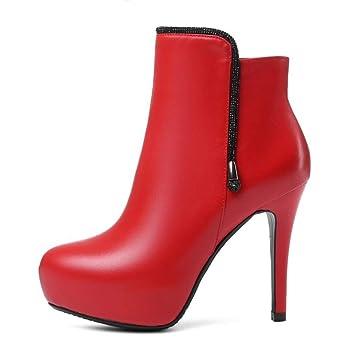 YAN Zapatos de tacón de Aguja de la Moda Plataforma de Tacones Altos súper Altos con