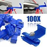 KINWAT 100pcs Blue Scotch Lock Wire Connectors High Performance Quick Splice Crimp Terminals for Crimp Electrical Part