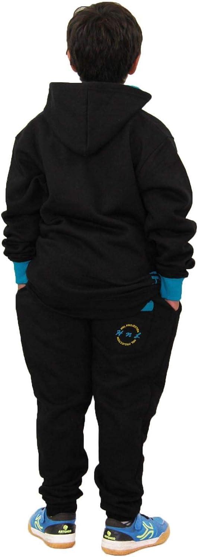 Kids Girls Boys Tracksuit HNL Hooded Top Bottom Workout Sportswear Jogging Suits