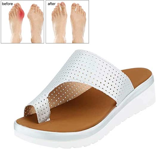 Women/'s Comfy Platform Sandal Shoes Ankle Strap Peep Toe Correction Arch Support