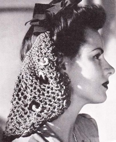 BOW SNOOD No. 1152 CROCHET PATTERN ()