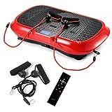 GENKI YD-1010B-R Ultra Slim Vibration Machine Plate Platform Whole Body Shaper Trainer Exercise Red