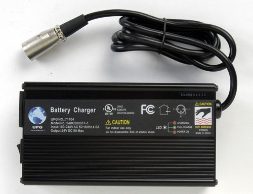 24V 5Amp Jazzy 1107,1121, 1121 HD, 614, 614 HD 3 Stage XLR Scooter Charger