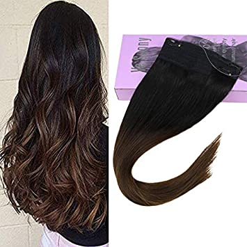 Ombre extensions on dark hair
