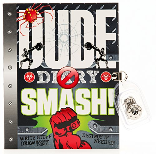 DUDE Diary SMASH! - Boys 8+ - Fun Illustrated Activity Diary - Lock & Keys by Fine Print Publishing