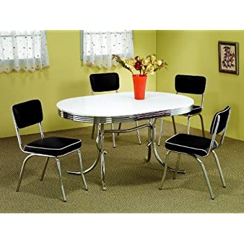 50u2032s Soda Fountain Table And Chairs Set By Coaster Furniture