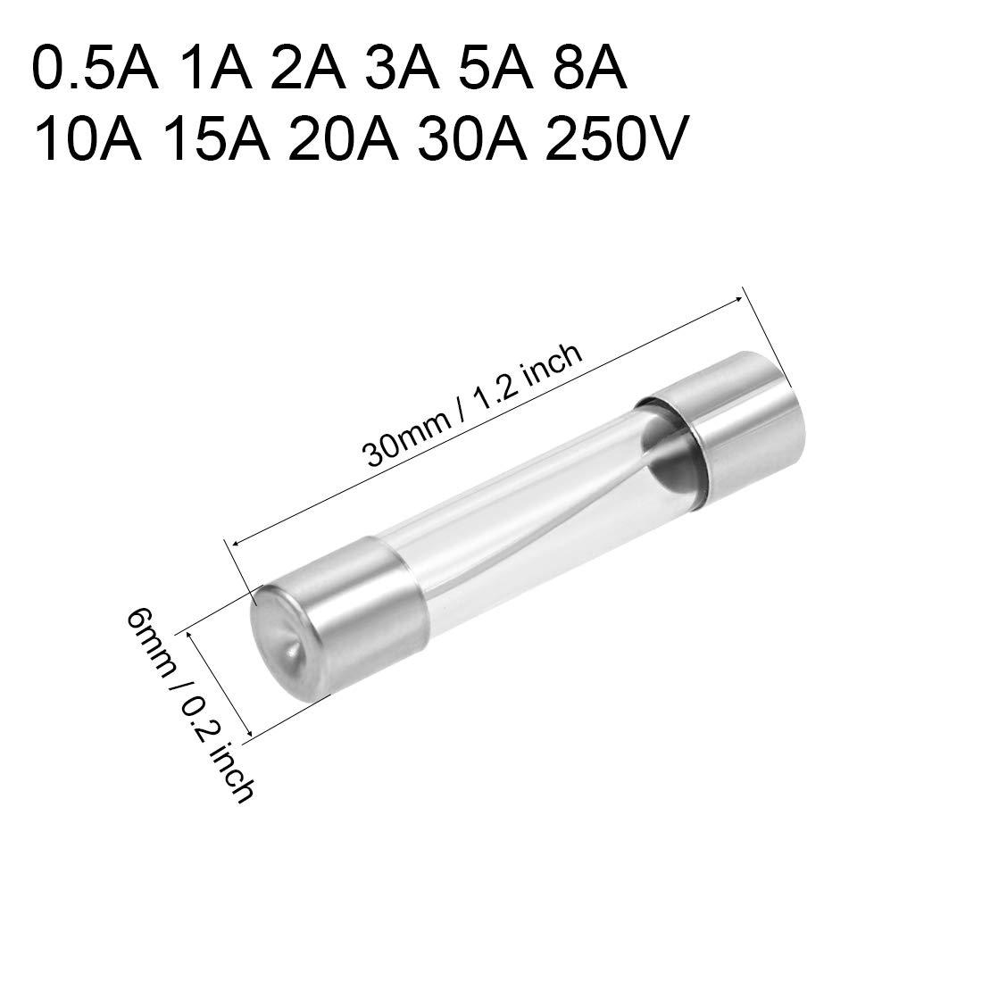 Kfz-Sicherungen 15A DC 32V Auto Stereo Audio Alarm Verst/ärker 6x32mm sourcing map 5 STK