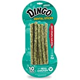 Dingo Tartar and Breath Dental Sticks for All Dogs, 10-Count